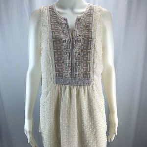 One September Anthropologie Sz L Embroidered Top